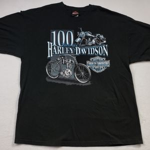 Harley Davidson Mens Black Graphic T-Shirt size XL
